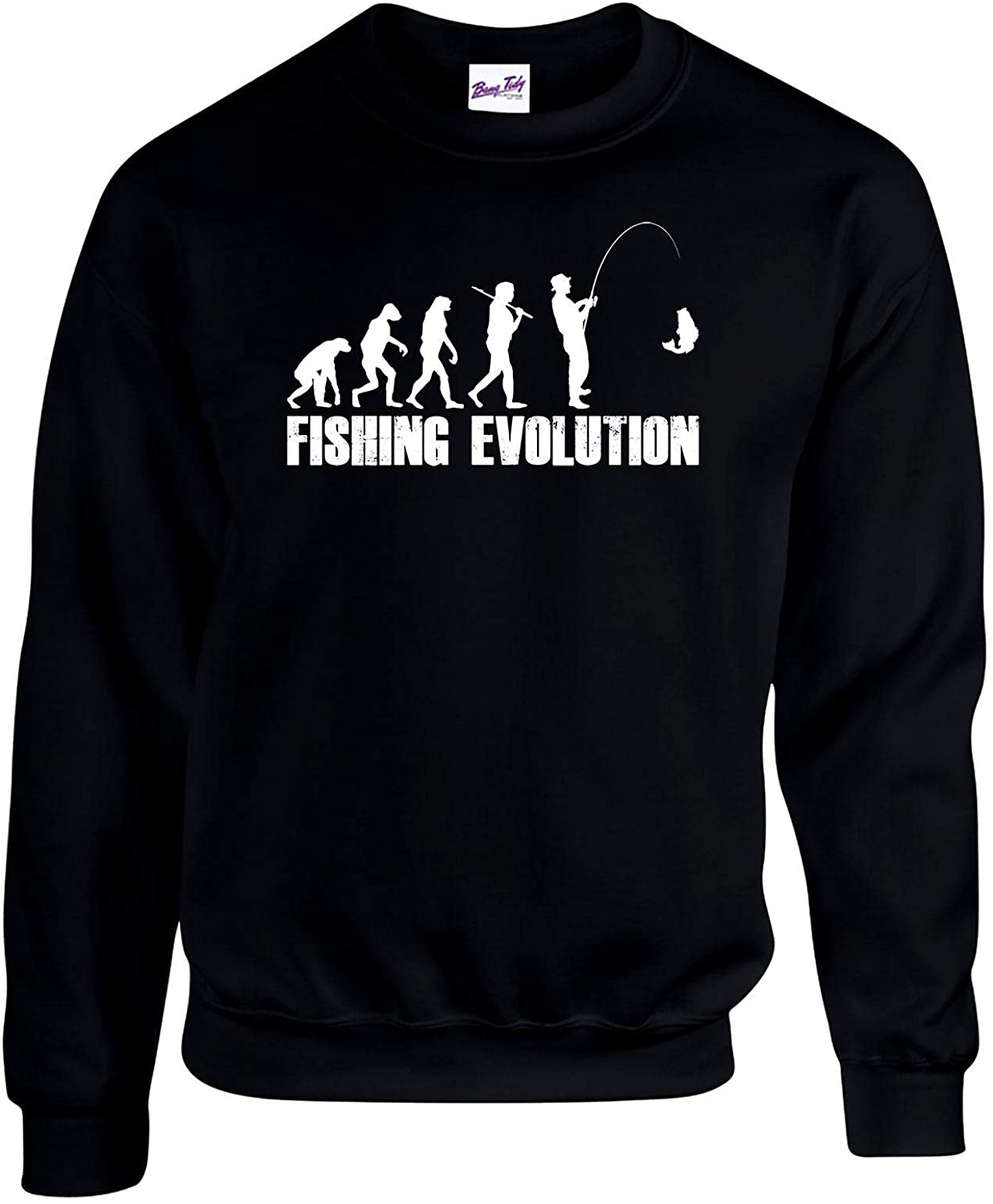 Fishing Sweatshirts Jumpers - Evolution Fishermen Anglers Clothing Gifts for Men