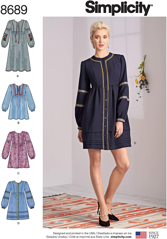 Simplicity Womens Boho Dress Sewing Patterns, Sizes 14-22