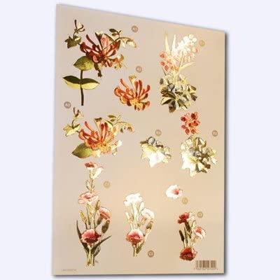 Ecstasy Crafts Craft Uk - Red, Pink, & Blue Flowers -Metalic