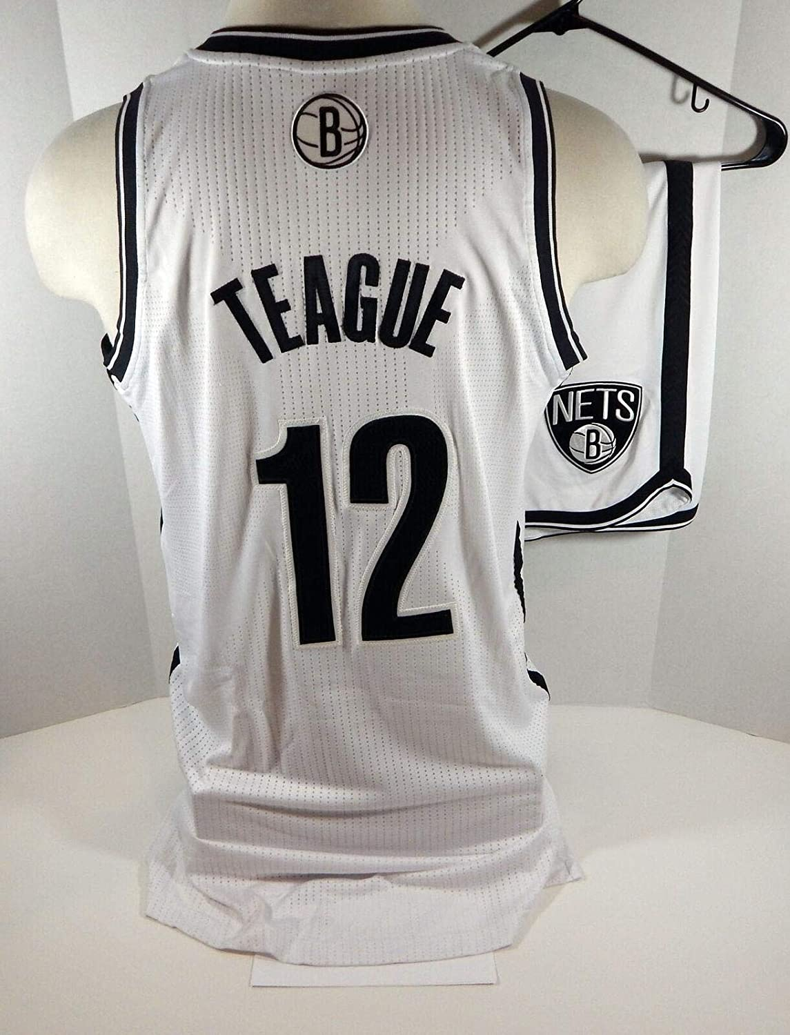 2013-14 Brooklyn Nets Marquis Teague #12 Game Issued White Jersey Shorts Rd 2 PS - NBA Game Used
