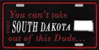Smart Blonde South Dakota Dude License Plate Novelty Metal LP-11295