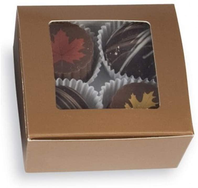 Copper 4 PC. Ballotin Box with Window - 2-5/8 x 2-1/2 x 1-1/4in. (25)