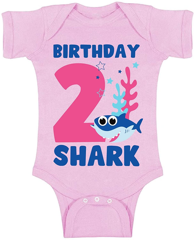 Awkward Styles 2nd Birthday Baby Bodysuit B-Day Shark Romper