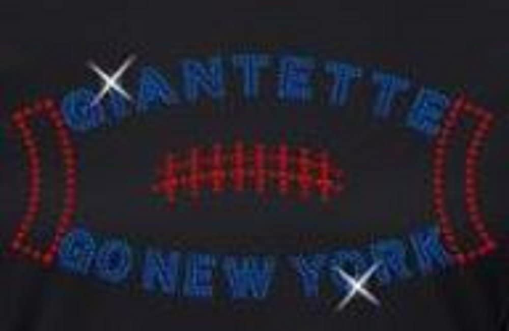 New York Football Giantette Rhinestone Iron on Transfer