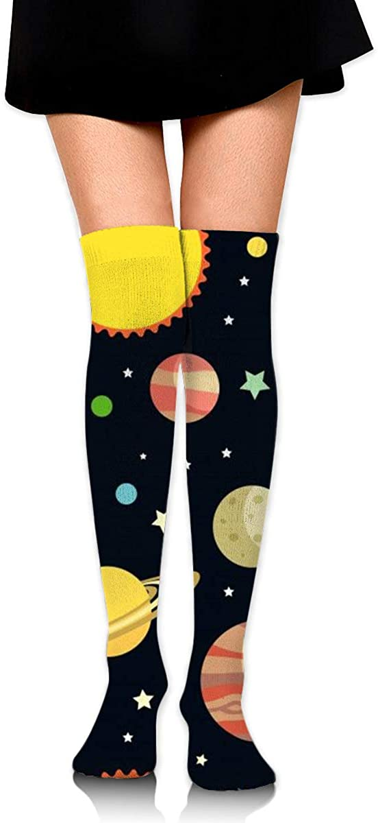 Knee High Socks Planet Women's Athletic Over Thigh Long Stockings