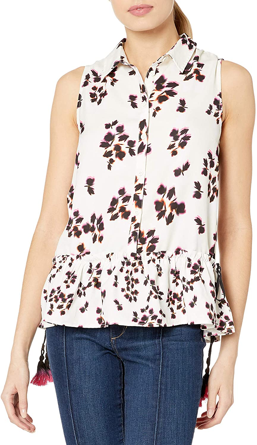 French Connection Women's Eva Crepe Top