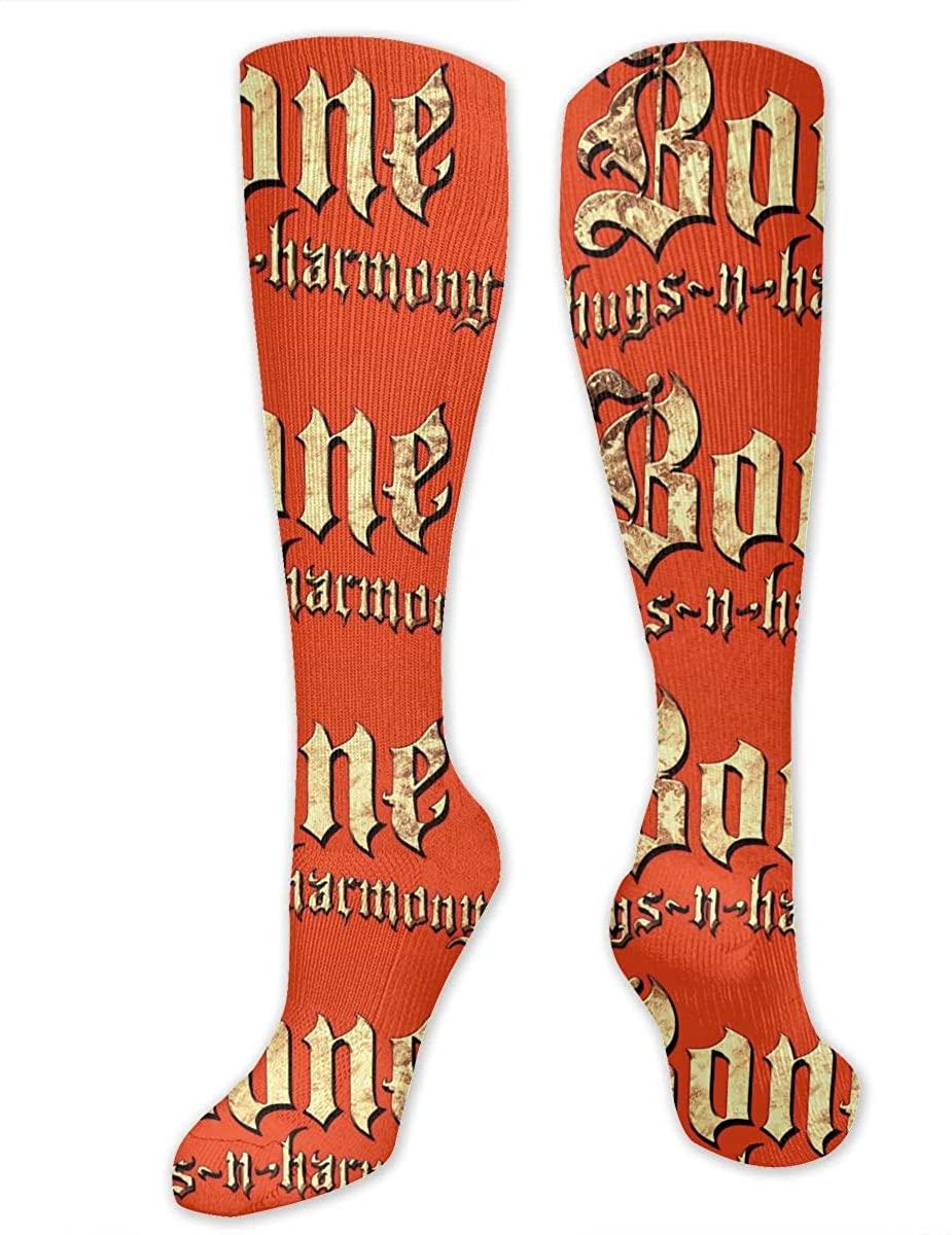 Bone Thugs N Harmony Logo Over The Calf Sport Sock For Women & Men Best Medical,Running,Nursing,Hiking,Recovery & Flight Socks