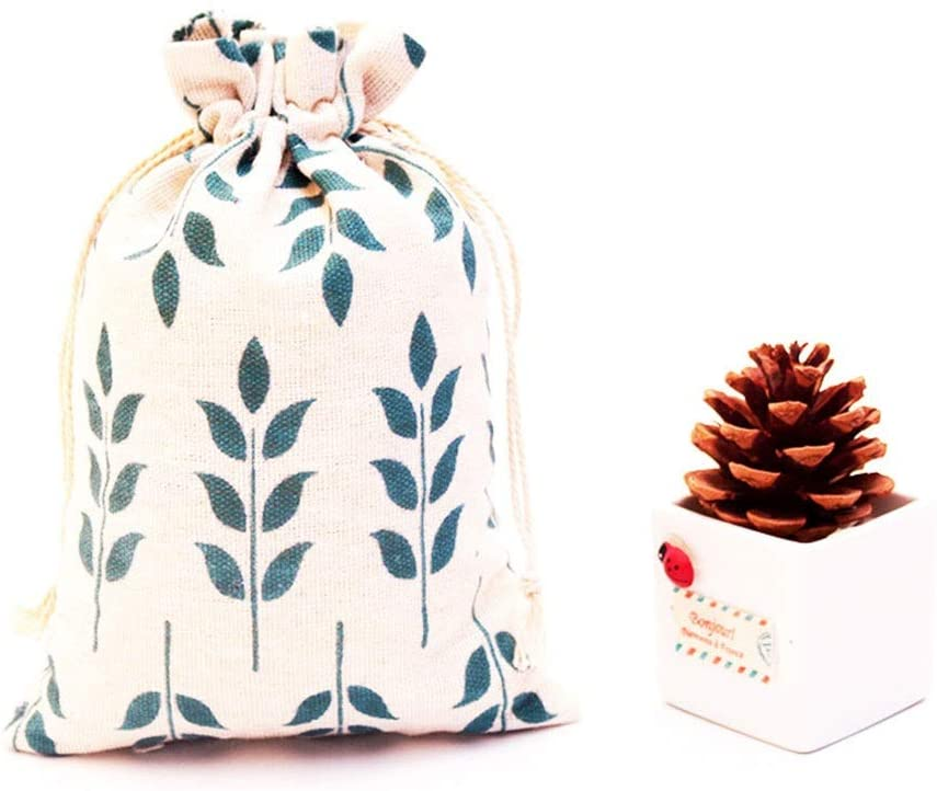Xinneng 50 Gift Bags - Transparent Monochrome Cotton Yarn Bag, Drawstring Opening, Wedding/Makeup Bag, White Small Gift Bag (13x18cm) Delicate