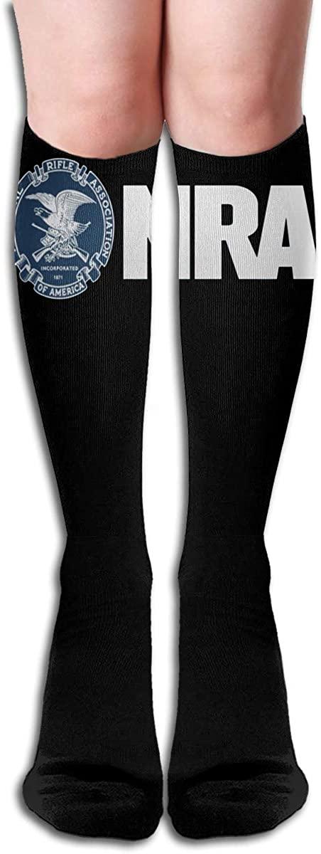 NRA National Rifle Association Symbol Long Socks Women's Knee High Stockings Athletic Tube Stockings
