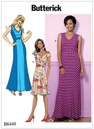 BUTTERICK Ladies Easy Sewing Pattern 6449 Princess Seam Dresses