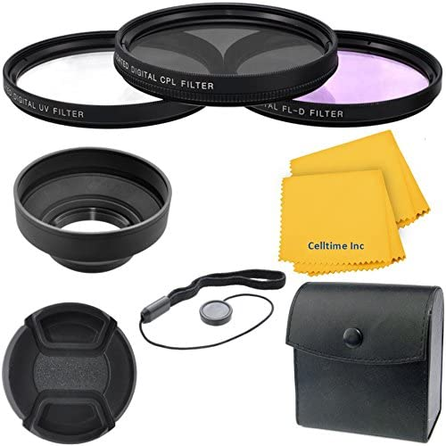 58mm Professional Deluxe 6pc Filter and Accessory Bundle Kit for Canon Telephoto EF 100mm f/2.0 USM and Canon Telephoto EF 85mm f/1.8 USM Lenses + CT Microfiber Cleaning Cloth