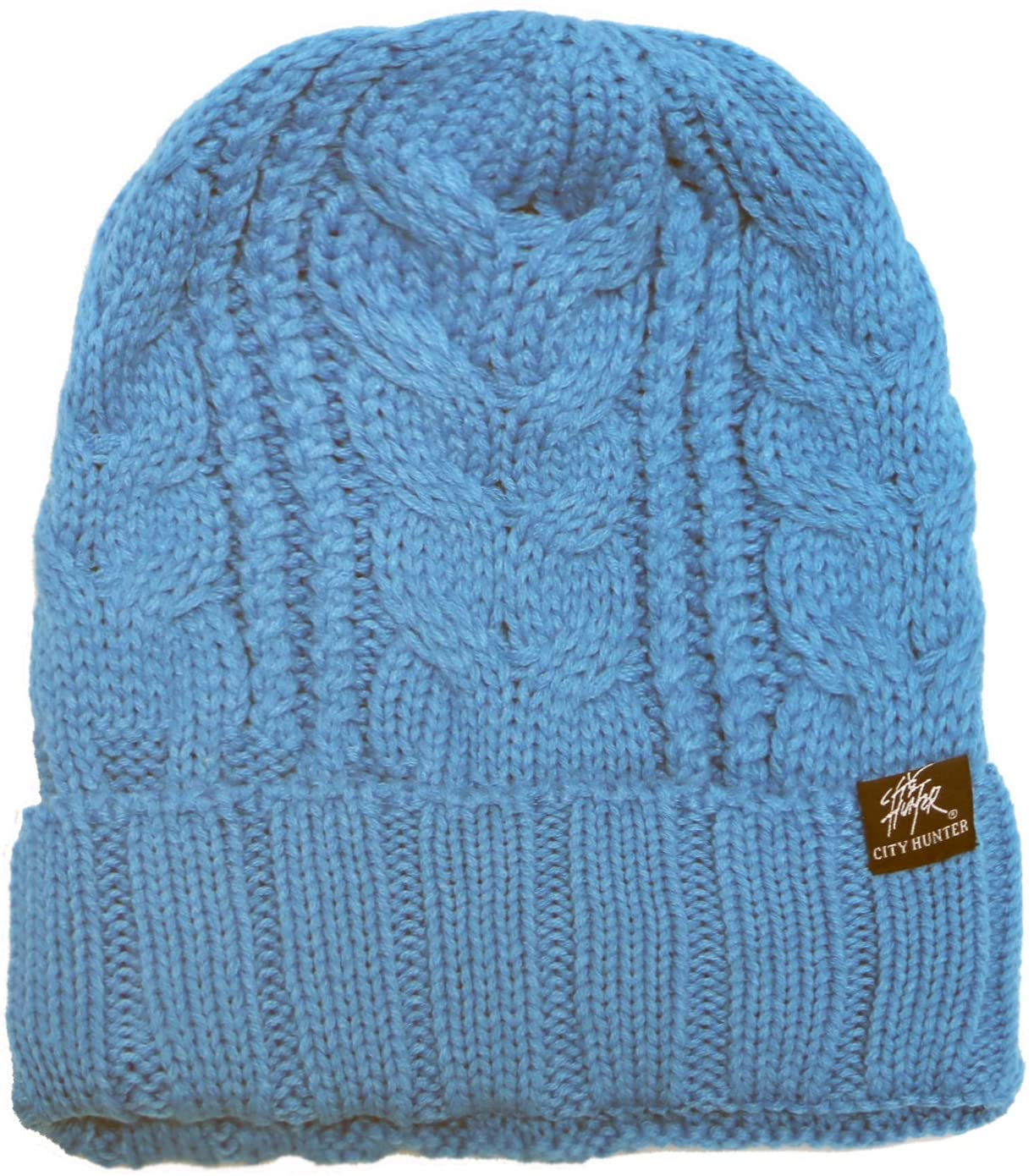 City Hunter Ck1051 Solid Knit Beanie Hat - Turquoise
