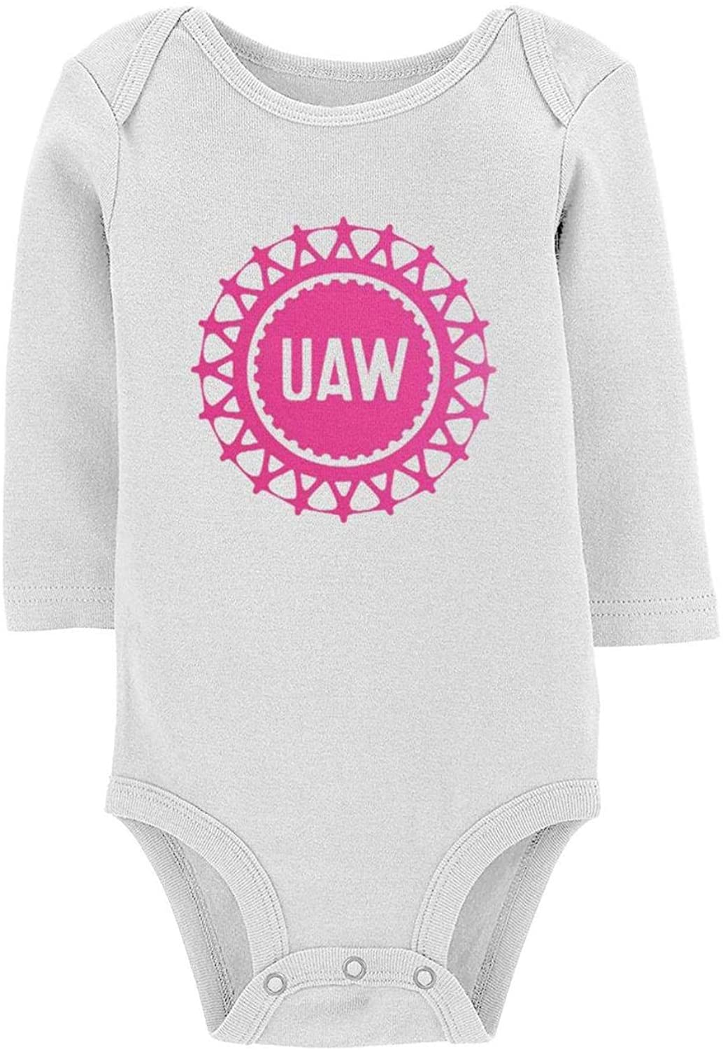 FPPING United Automobile Workers Boys' Girls' Baby Long Sleeve Bodysuits Art Baby Coveralls