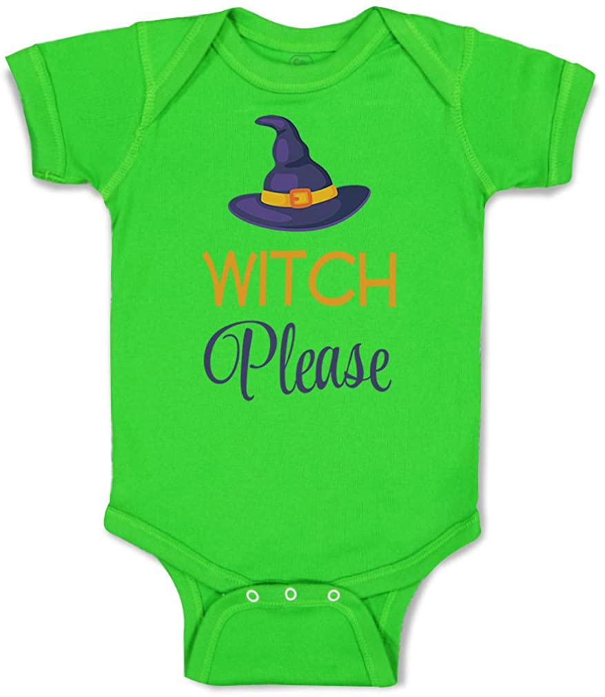 Custom Baby Bodysuit Witch Please Funny Humor Cotton Boy & Girl Baby Clothes