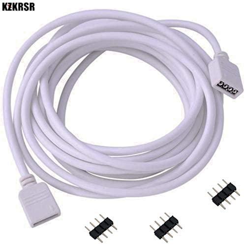 Davitu Connectors - KZKRSR 30cm 100cm 200cm 300cm 500cm 4 Pin 3528 5050 RGB LED Strip Connector Wire Extension Cable Female Extend With 4 pin Plug - (Color: 5M)