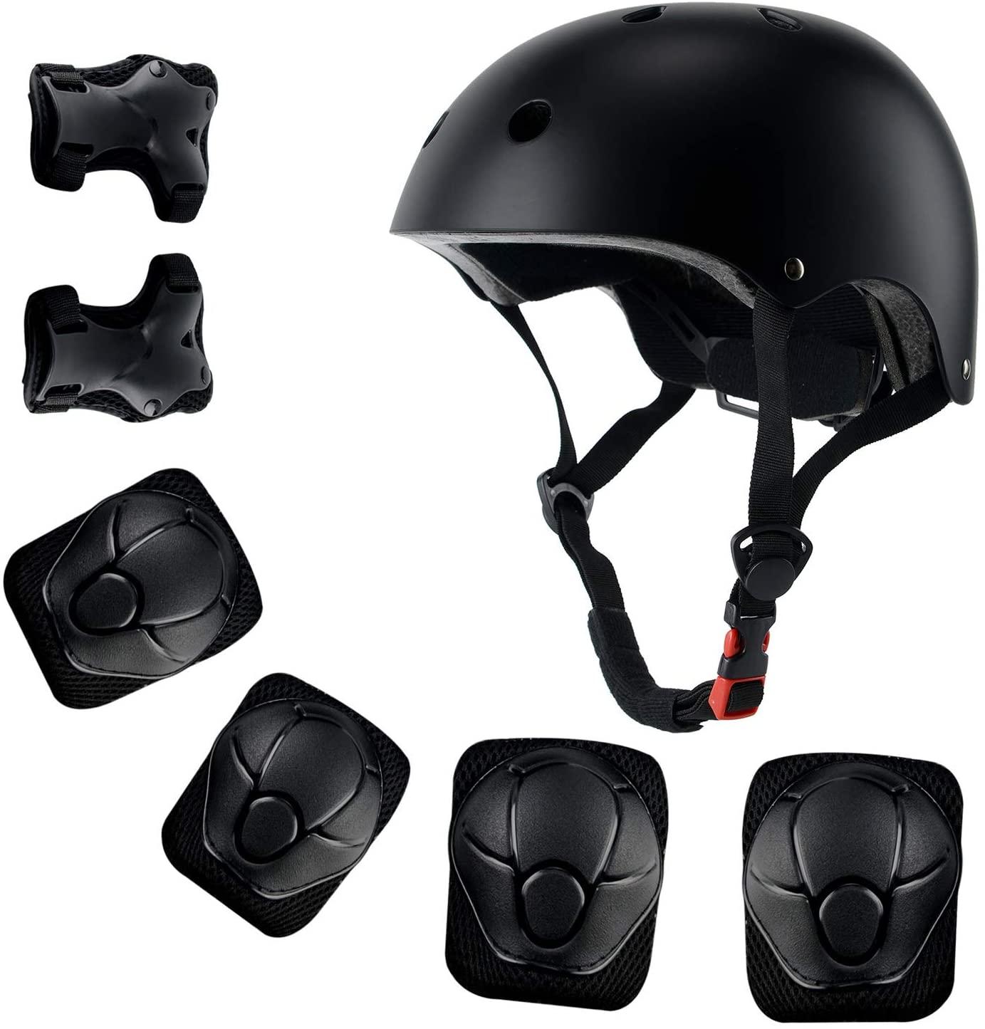 Anharluka Kids Sport Protective Gear Set, Helmet and Pads for Bike Skateboard Skate Scooter