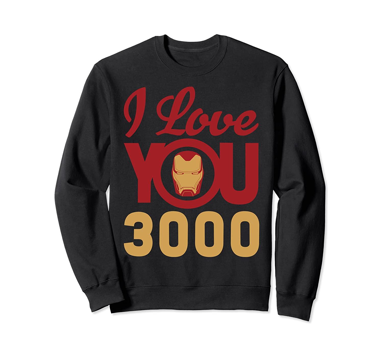 Marvel Avengers Endgame Iron Man I Love You 3000 Helmet Logo Sweatshirt