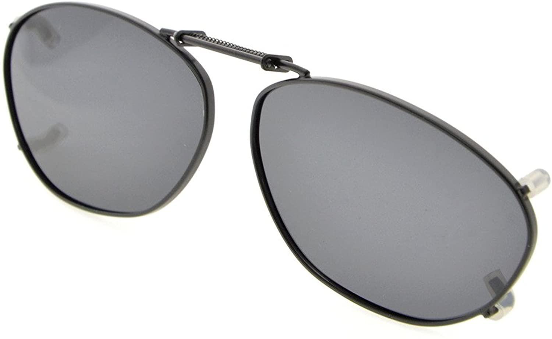 Eyekepper Metal Frame Rim Polarized Lens Clip On Sunglasses 2