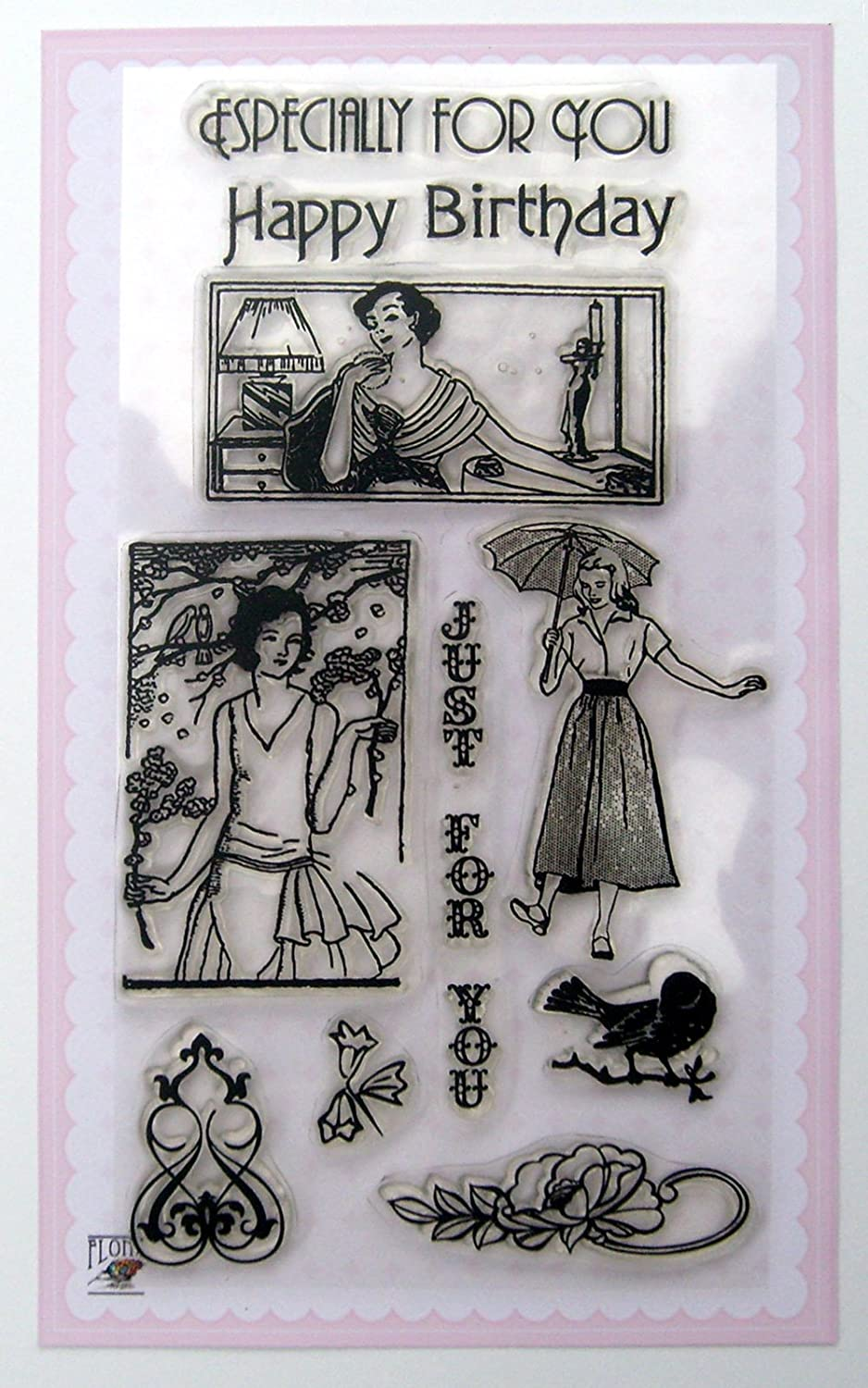 Cute Girls/Vintage Clear Stamps Set