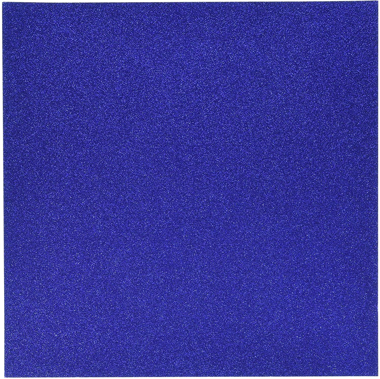 Best Creation Glitter Cardstock 12-Inch by 12-Inch, Jewel Blue
