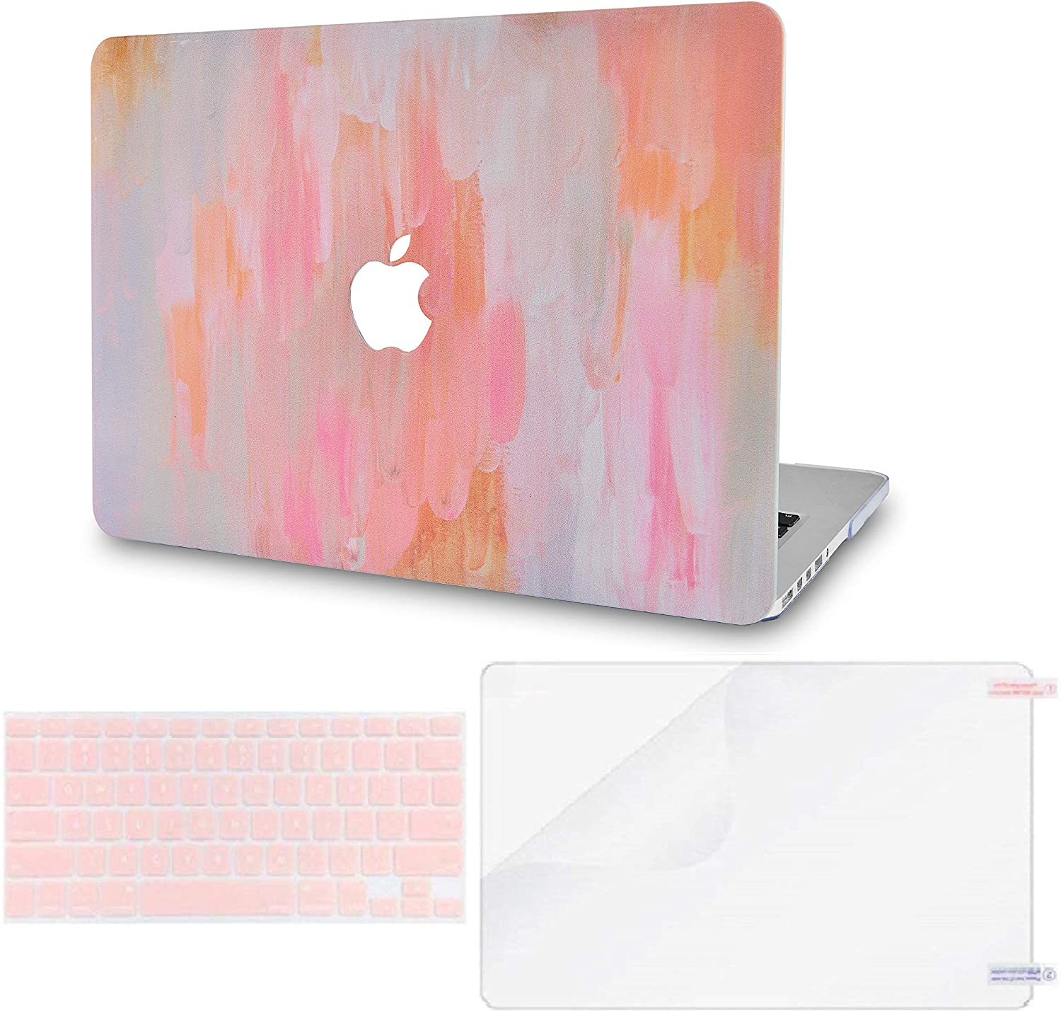 LuvCase 3 in 1 Laptop Case for MacBook Pro 16 Touch Bar (2020/2019) A2141 Hard Shell Cover, Keyboard Cover & Screen Protector (Mist 13)