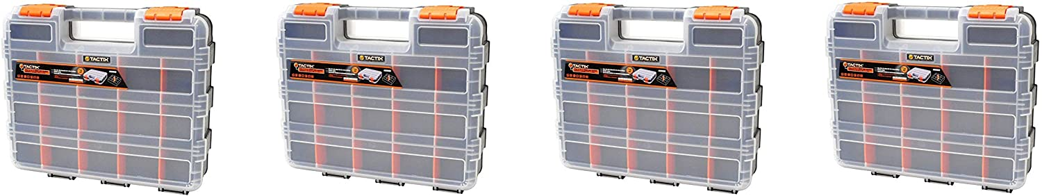 HDX 320028 34-Compartment Double Sided Organizer with Impact Resistant Polymer and Customizable Removable Plastic Dividers (Fоur Paсk)