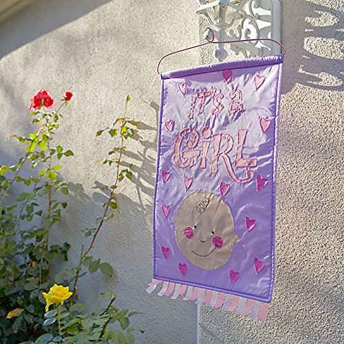 It's a Girl! Hanging Sign| Baby Girl Arrival Announcement | Decorative Door Hanger | Perfect Gift for Baby Girl