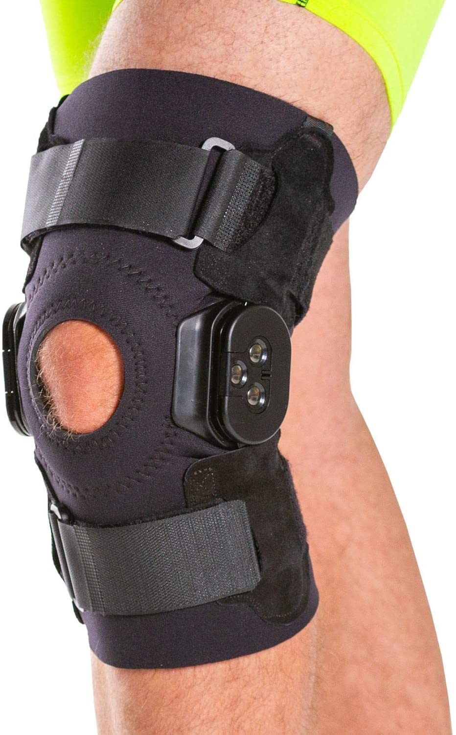 BraceAbility Torn Meniscus ROM Knee Brace   Hinged Post Surgery Support with Flexion / Extension Control for Hyperextension & Locking Treatment, Ligament (PCL / ACL) Tears, Osteoarthritis (2XL)