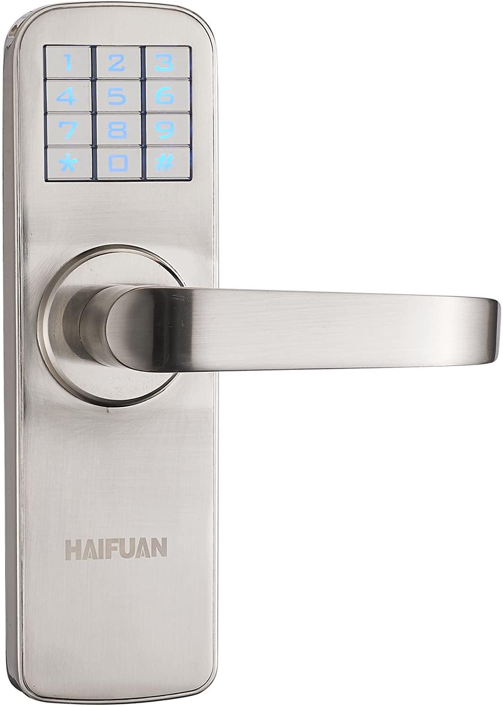 HAIFUAN Security Digital Keyless Code Door Lock, Unlock with Code and Key(HFAM5-R)