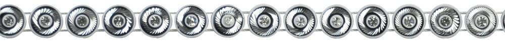 Belagio Enterprises 3/8-inch Bullseye Rhinestone Trim 10 Yards, White