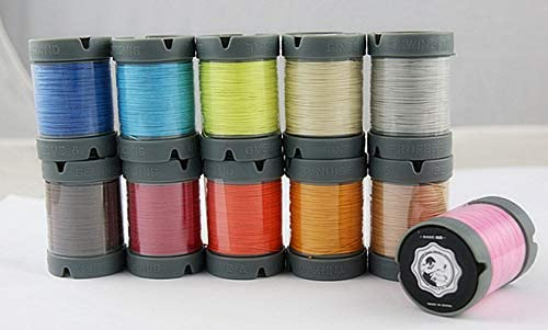 Since Leather 100% Flax Fiber Hand Sewing Thread 48 Colors Available DIY leathercraft (0.55MM, Purple)
