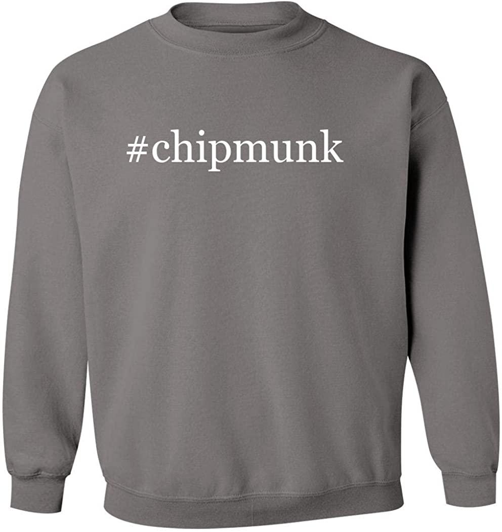#chipmunk - Men's Hashtag Pullover Crewneck Sweatshirt, Grey, XXX-Large
