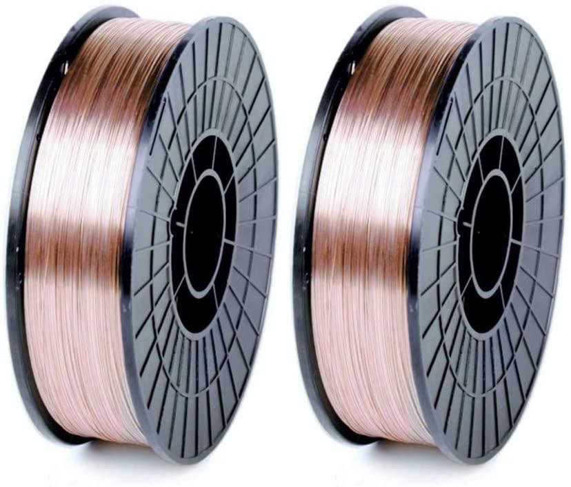 WeldingCity 2 Rolls of ER70S-6 ER70S6 Mild Steel MIG Welding Wire 11-Lb Spool 0.030