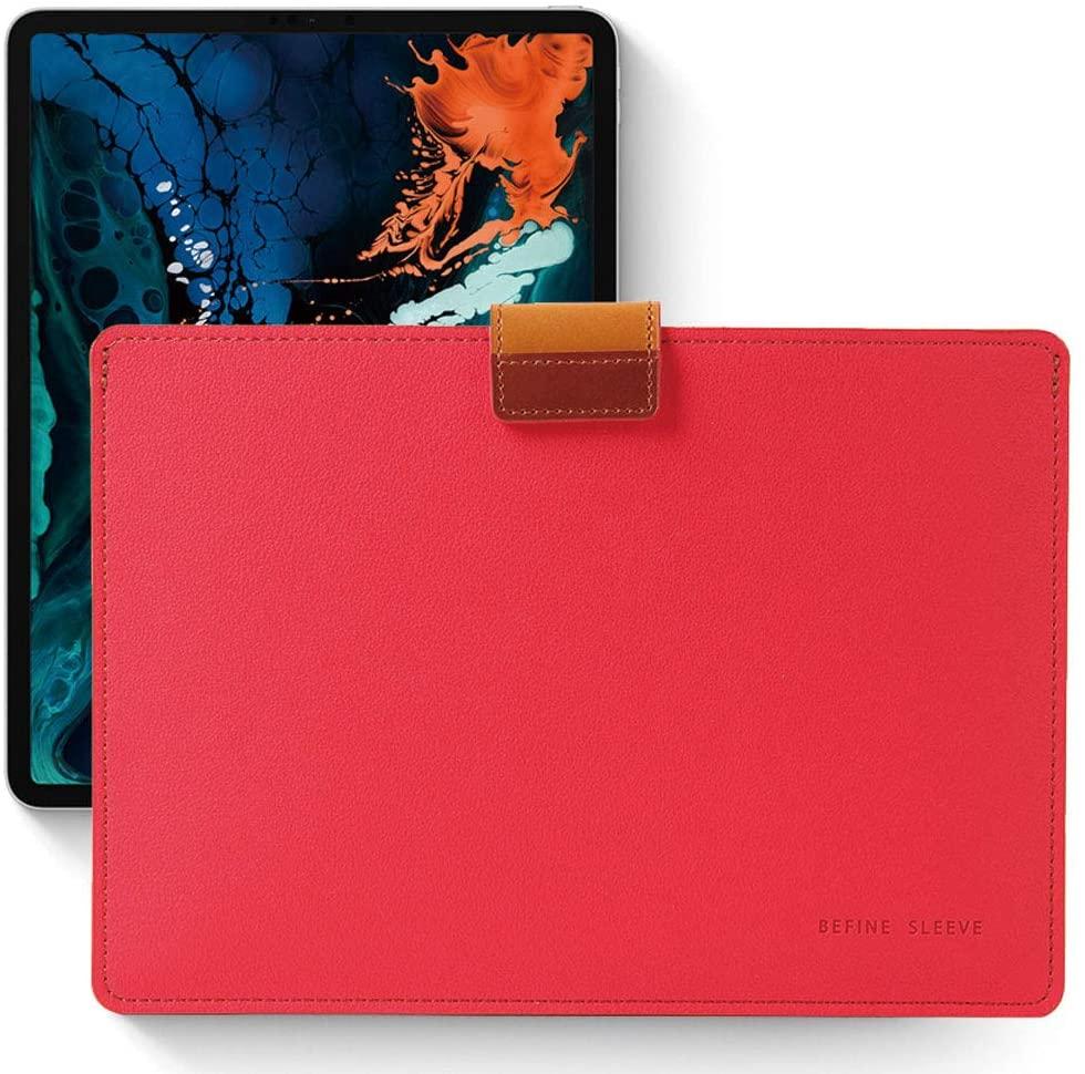 BEFINE - Apple MacBook Air&Pro 13' iPad Pro 12.9' Tasca Sleeve Edition - Handmade Premium Leather Sleeve case,Slim,Modern and Durable case (Red)