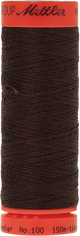 Mettler Metrosene 100% Core Spun Polyester Thread, 165 yd, Very Dark Brown