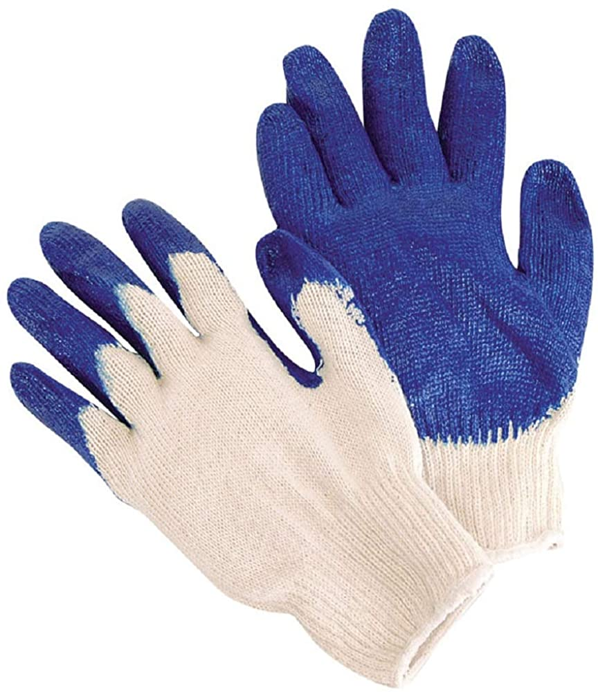 Pack of 24 Blue Latex Palm Coated Knit Gloves 10