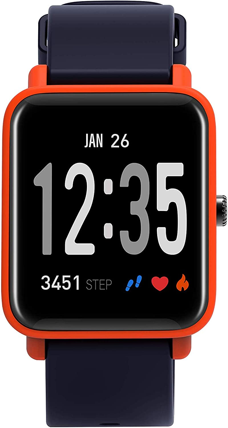 Fitness Tracker Pedometer, Bluetooth IP67 Waterproof Motion Business Heart Rate Monitor Suitable for Men and Women, Smart Watches