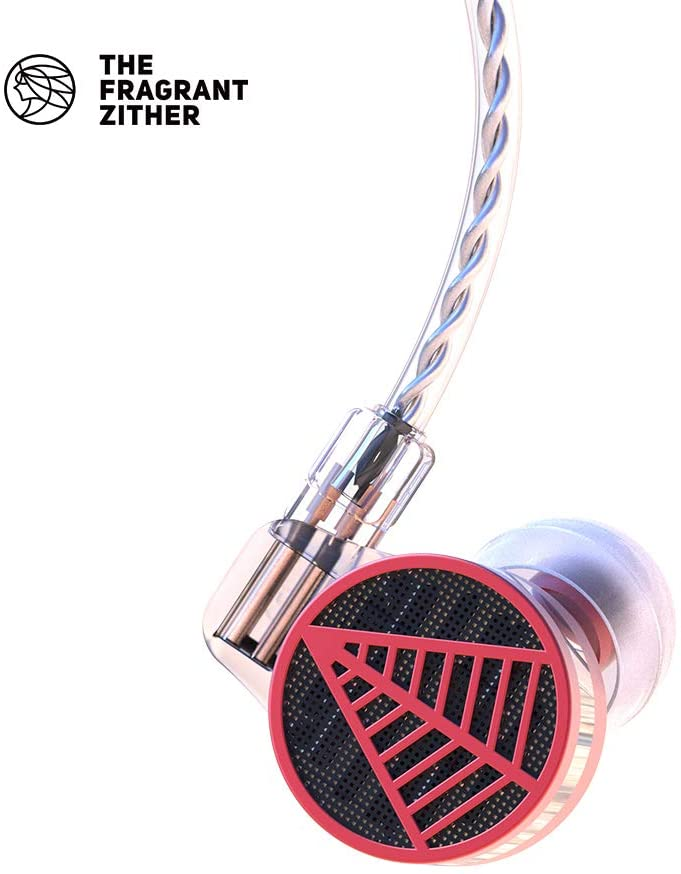THE FRAGRANT ZITHER/Tequila 1 Semi Enclosed HiFi Earphones, Metal Material Audiophile Handphone, Super Bass Earphone Headset, Compatible for iPhone and Android (Red)