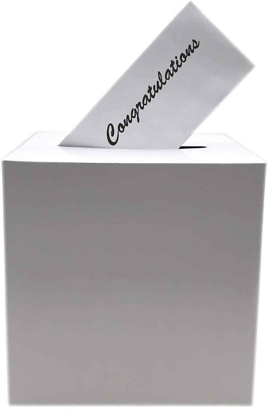 Tytroy White Money Box Keepsake Wedding Reception Decoration Wishing Well Party Favor (1 pc)