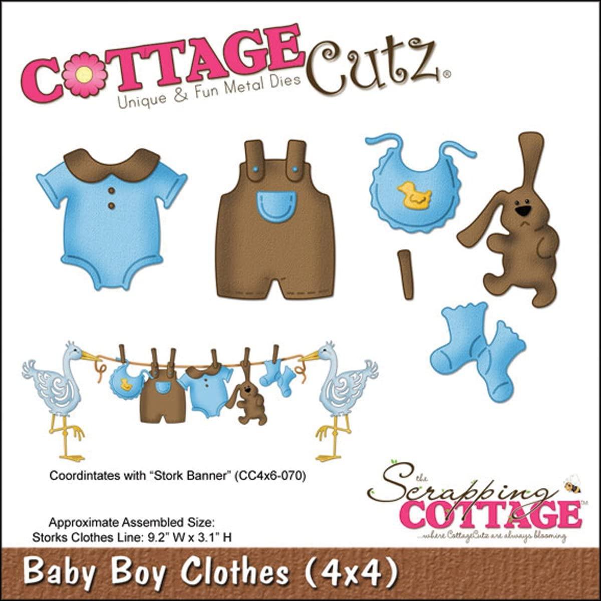 CottageCutz 4X4492 Die with Foam, 4 by 4-Inch, Baby Boy Clothes