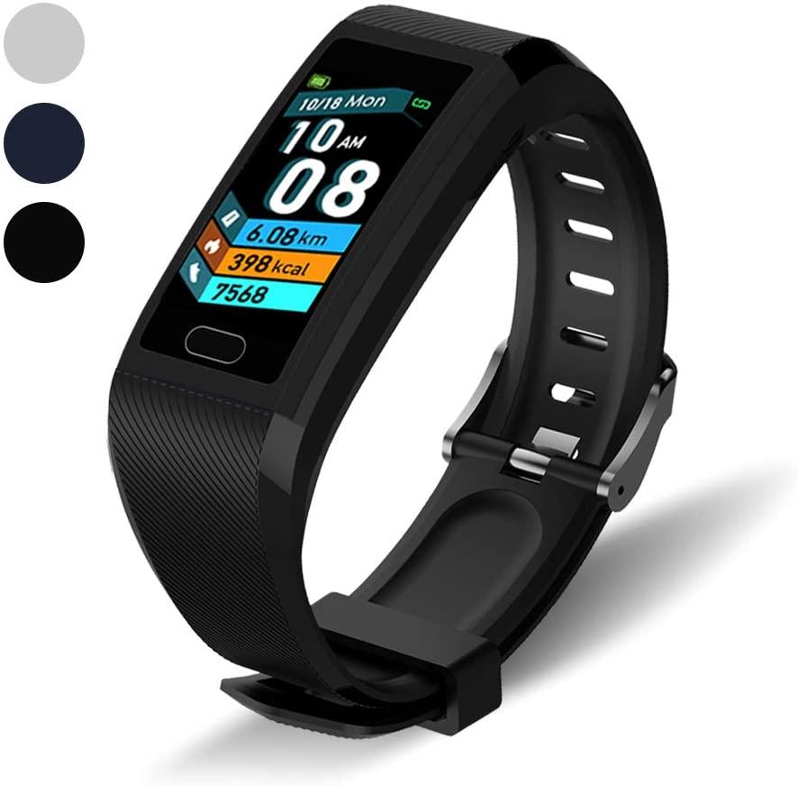 Walkercam, Pedometer Activity Fitness Tracker with Sleep Monitor, Black