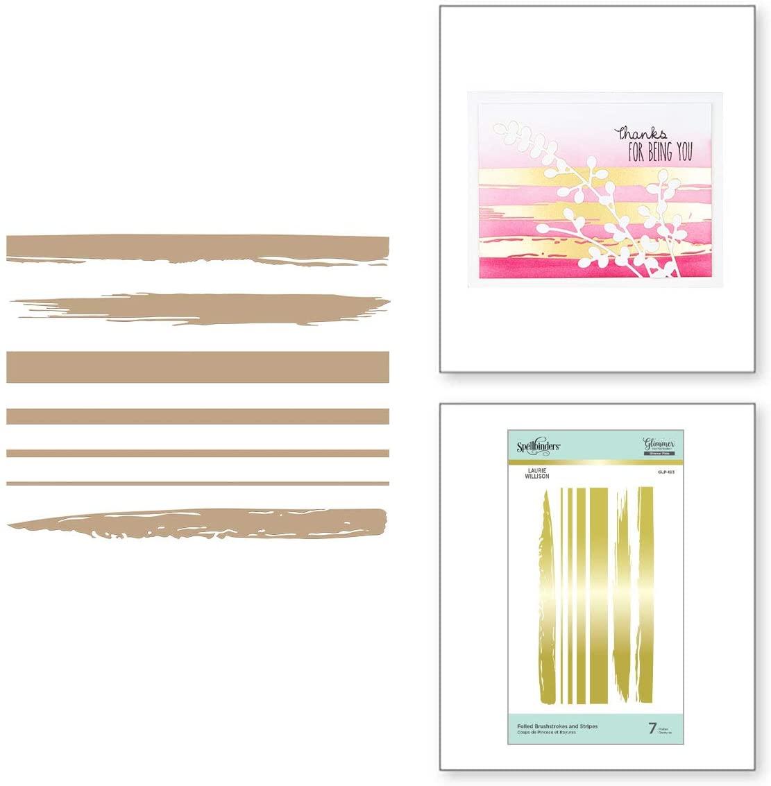 SPELLBINDERS PAPERCRAFTS, INC GLIMMER PLATES BRUSHSTRKS, Foiled Brushstrokes And Stripes