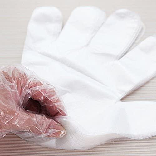 VNDEFUL 500 PCS Disposable Safety Sterile Polyethylene Gloves Food Gloves for Cooking,Cleaning,Food Handling