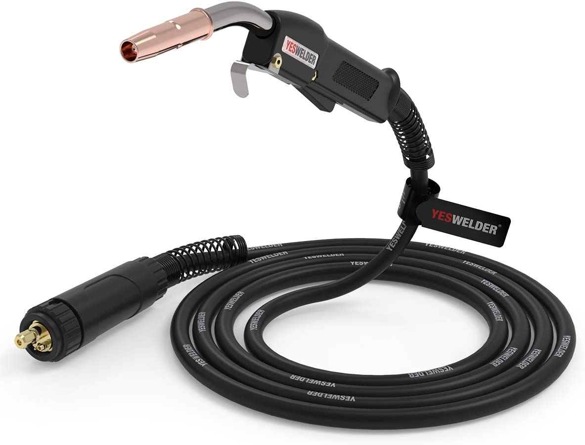 YESWELDER 15ft 250A MIG Welding Gun Euro connection Replacement for Longevity Esab Tweco #2