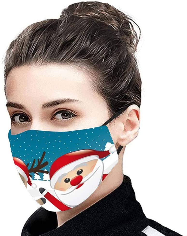 OMGYST 1Pack Reusable Cotton Protect_Face_Mask_Cover Washable Breathable Floral Printed Lightweight Cloth Face Màsc for Women Men