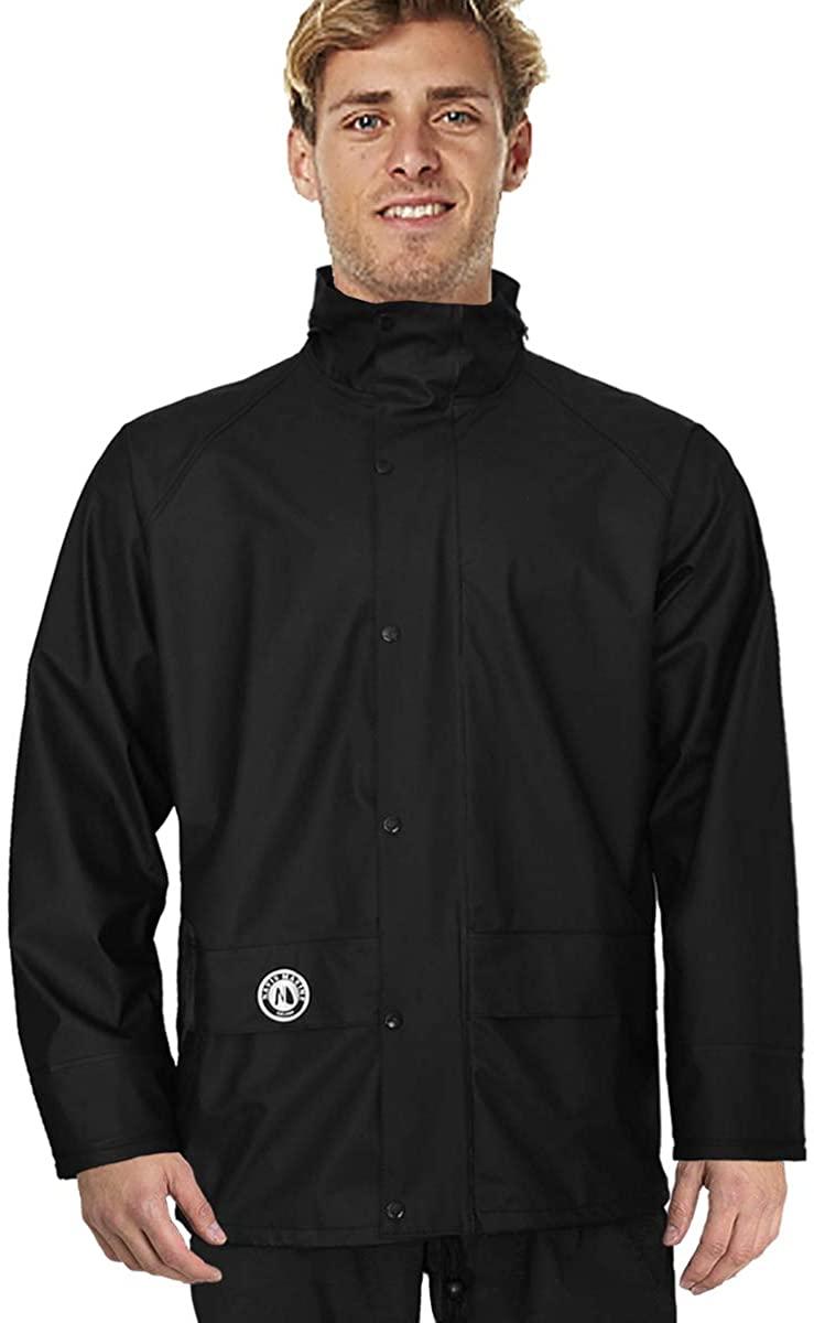 Outdoor Rain Jacket Waterproof men women Raincoat Heavy Duty Windproof Stretchable