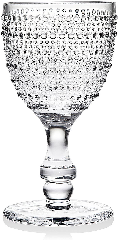 Godinger Wine Glasses Goblets, Beverage Stemmed Glass Cups - Lumina, 9oz, Set of 4