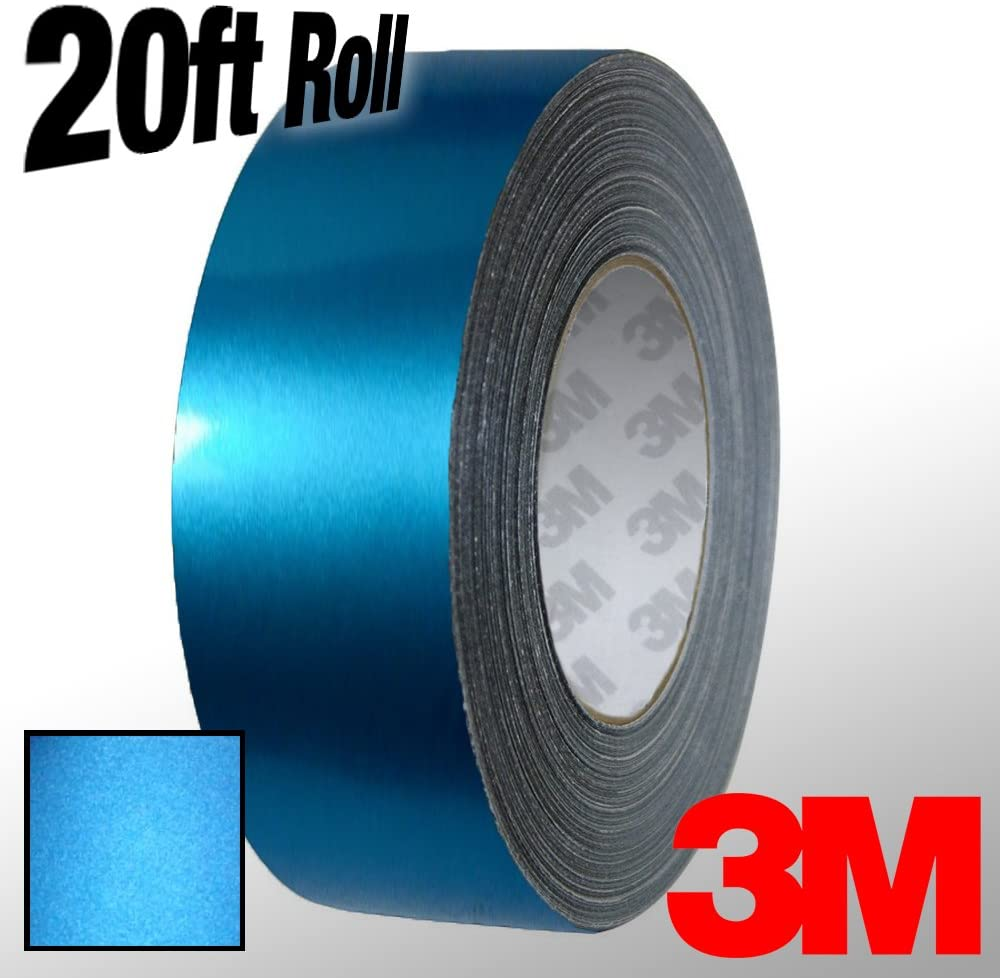 VViViD 3M 1080 Metallic Blue Matte Vinyl Detailing Wrap Pinstriping Tape 20ft Roll (4 Inch x 20ft)