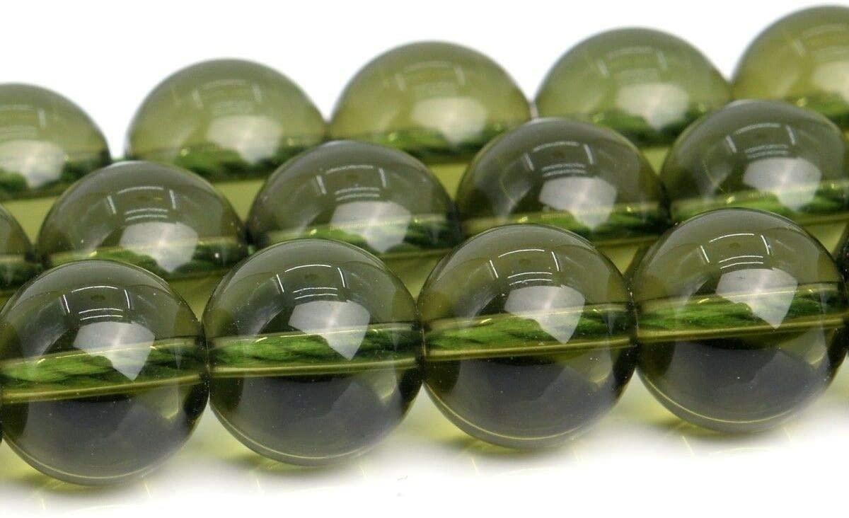 KapOD Beads 9MM Genuine Natural Moldavite Meteorite Czech Republic AAA Round Beads 15.5