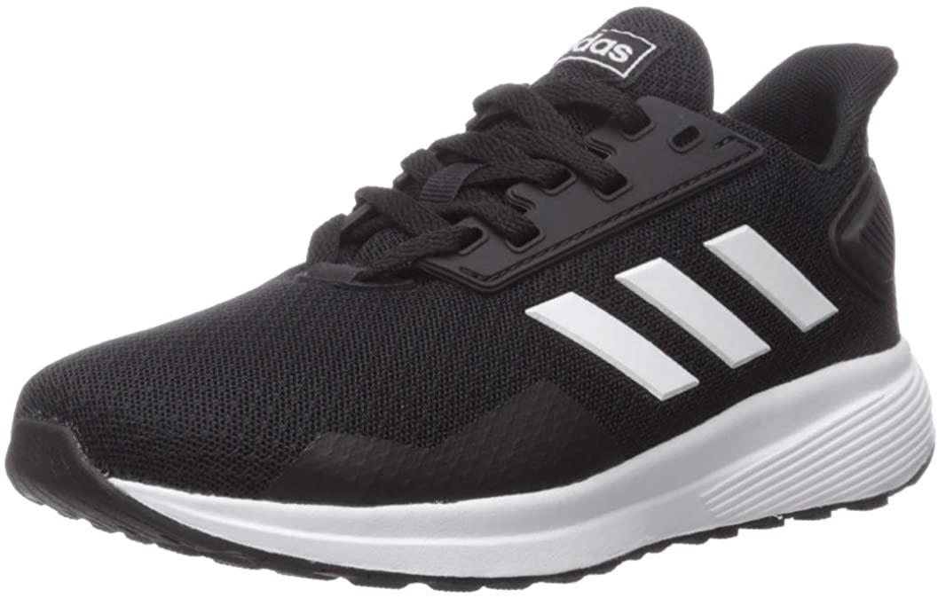 adidas Kids Unisex's Duramo 9 K Wide Running Shoe, Black/White/Black